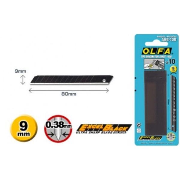 Olfa ABB-10B - 9mm- Excel Black
