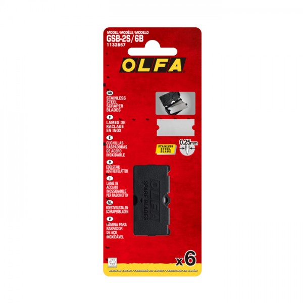 Olfa GSB-2S/6B Spare Blades for Glass Scraper