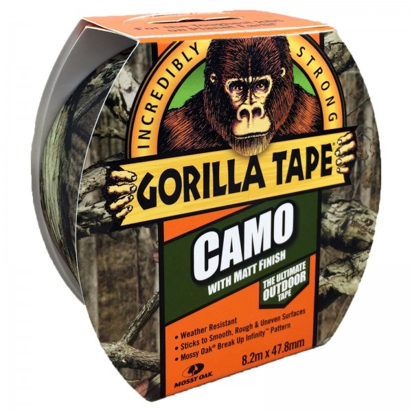 Gorilla Camo Tape With Matt Finish (8.2m x 47.8mm)