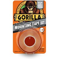 Gorilla Heavy Duty Crystal Clear Mounting Tape (25.4mm x 1.52m)